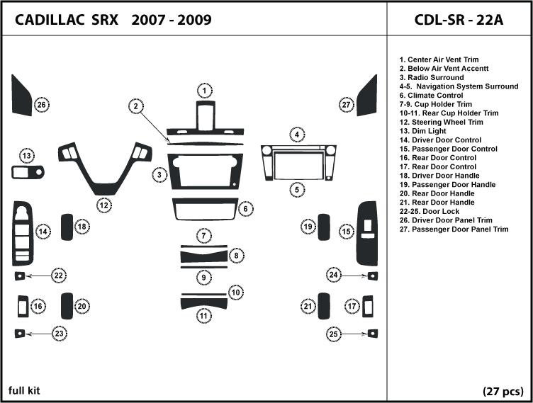 Dash Trim Kit For Cadillac Srx 07