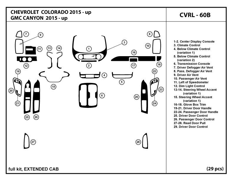 Dash Kit Trim Set for Jeep Liberty 2005-2007 Interior Dashboard JEP-LB-16A 25pcs