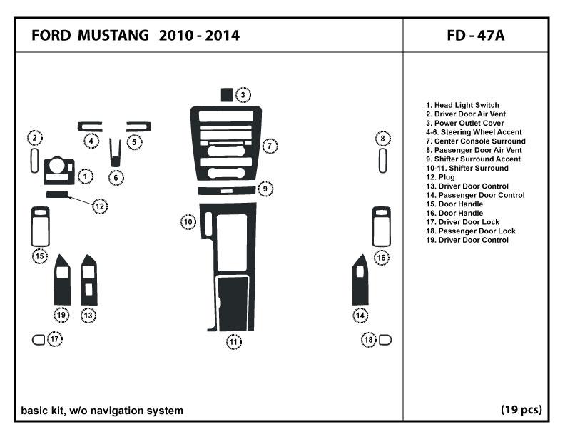 4DR Dash Kit Trim digital AC Honda Accord Sedan 03-07 w//o navigation system